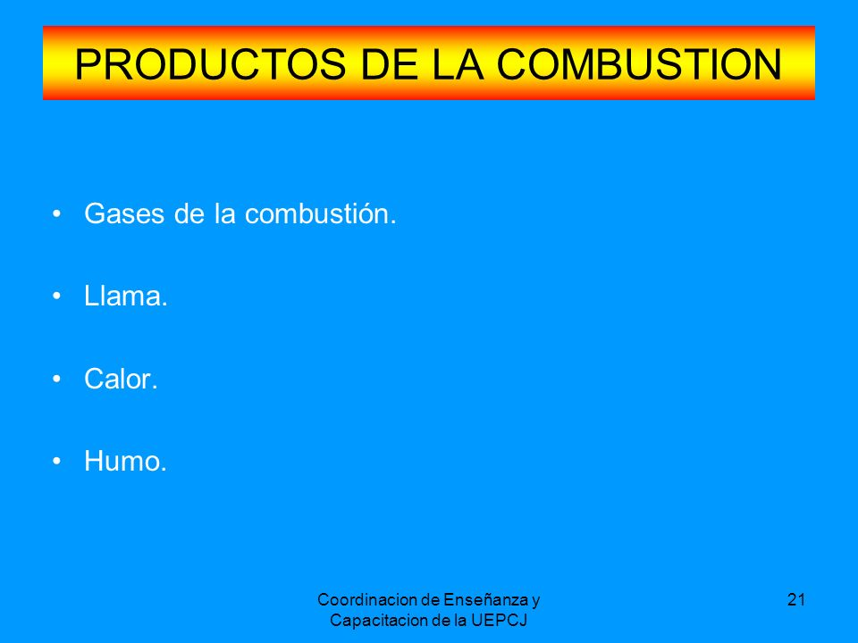 PRODUCTOS DE LA COMBUSTION