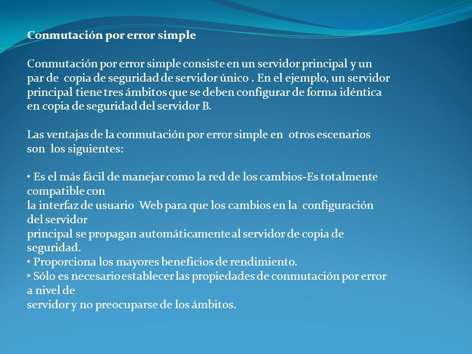 Conmutación por error simple