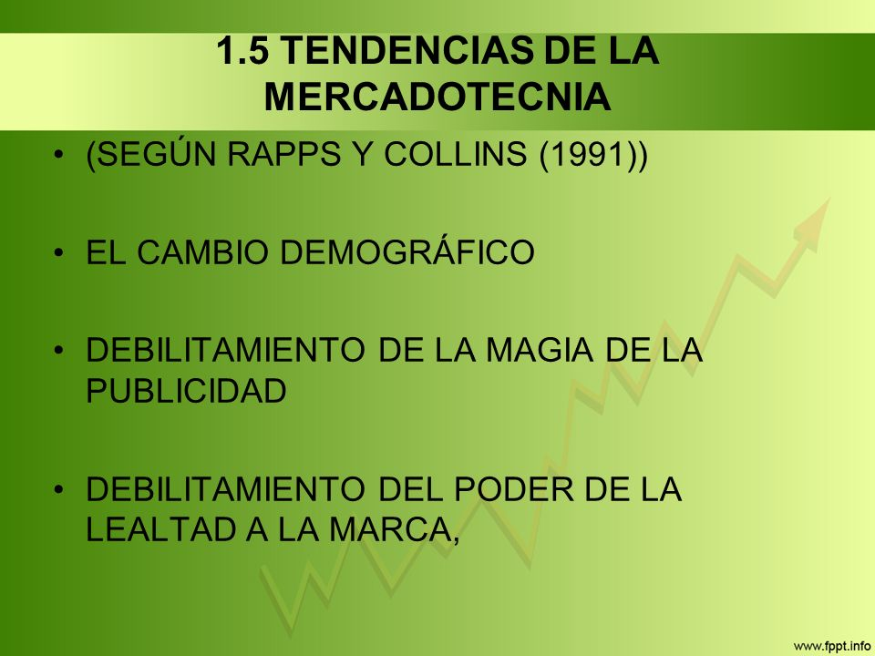 1.5 TENDENCIAS DE LA MERCADOTECNIA