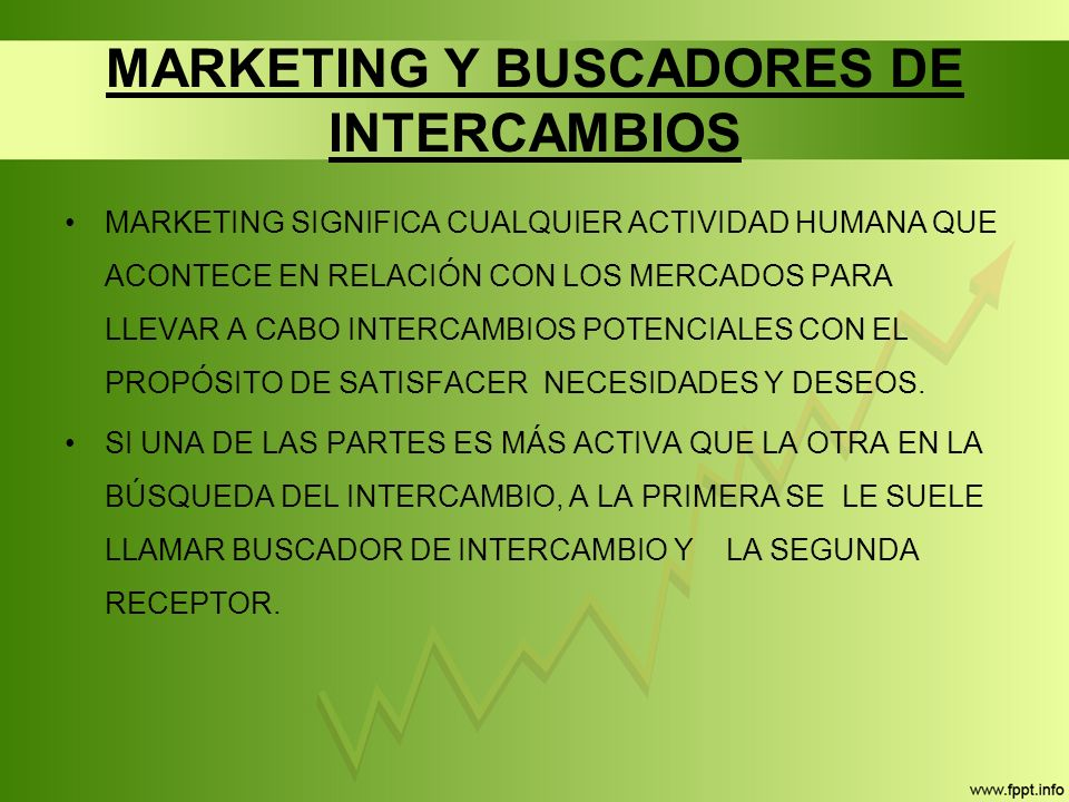 MARKETING Y BUSCADORES DE INTERCAMBIOS