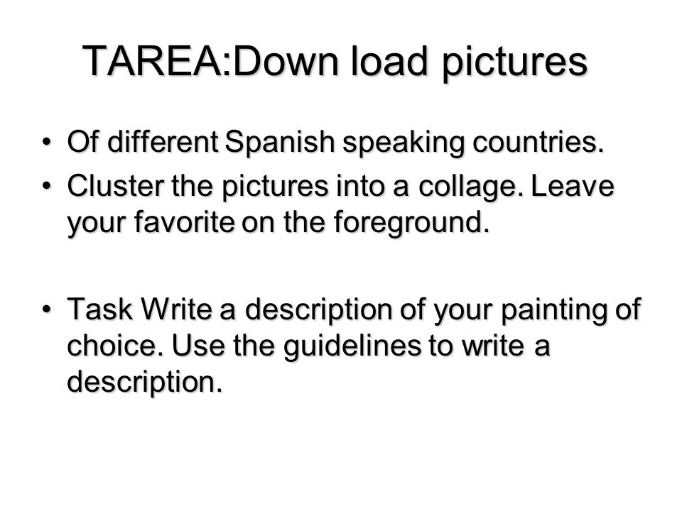 TAREA:Down load pictures