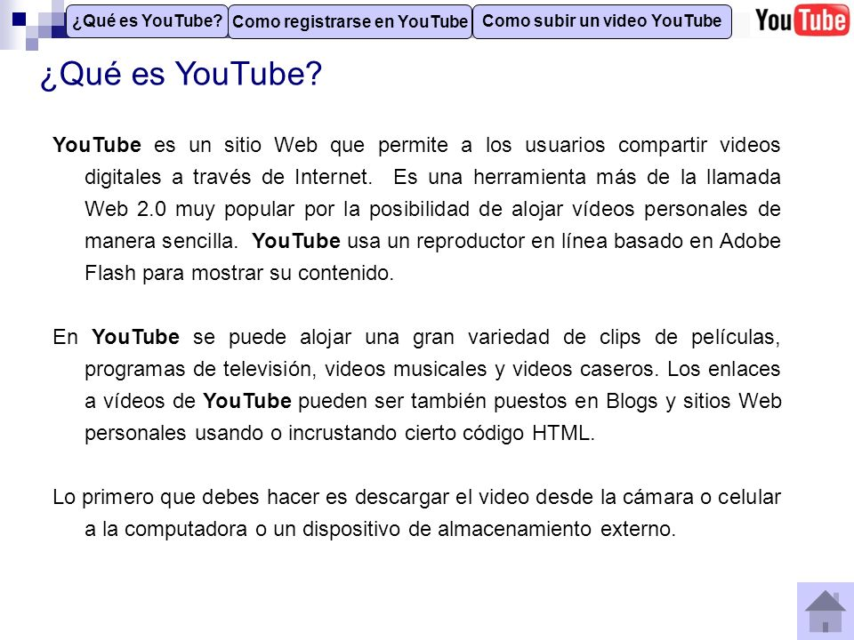Como registrarse en YouTube Como subir un video YouTube