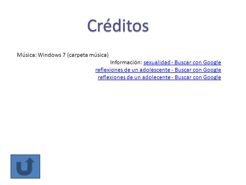 Créditos Música: Windows 7 (carpeta música)