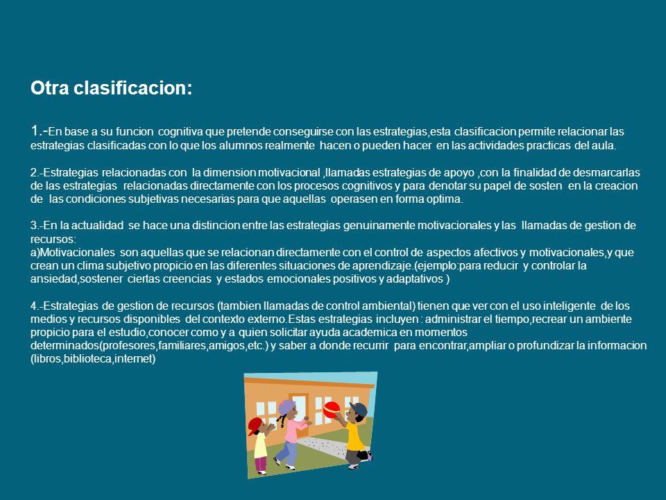 Clasificacion De Las Estrategias De Aprendizaje Ppt Descargar
