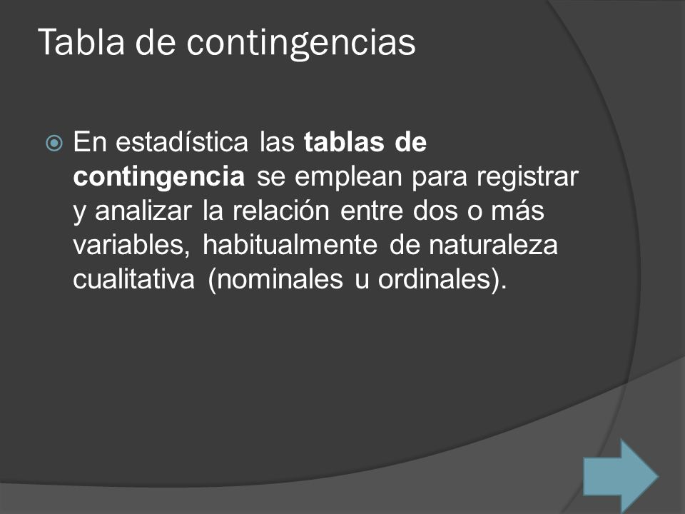 Tabla de contingencias