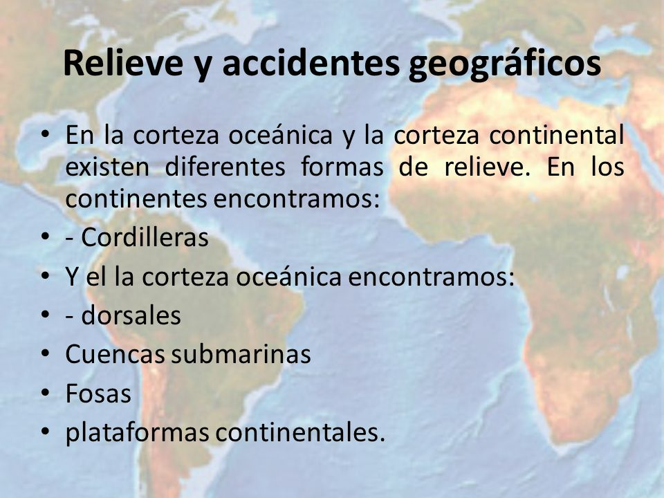 Relieve y accidentes geográficos