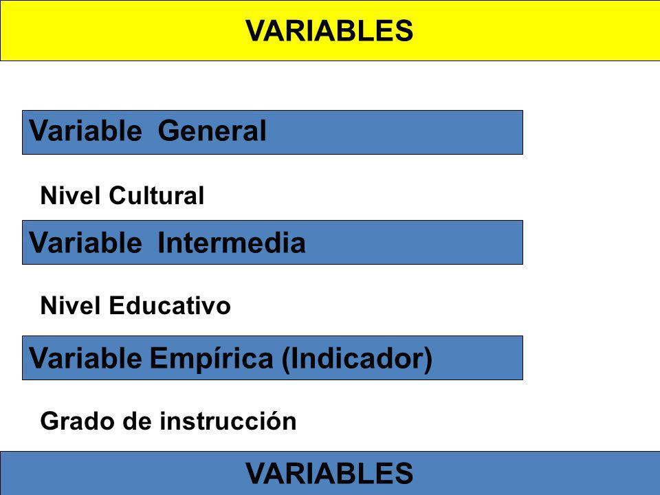 Variable Empírica (Indicador)