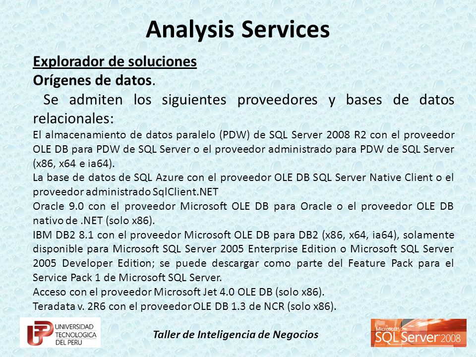 Analysis Services Explorador de soluciones Orígenes de datos.