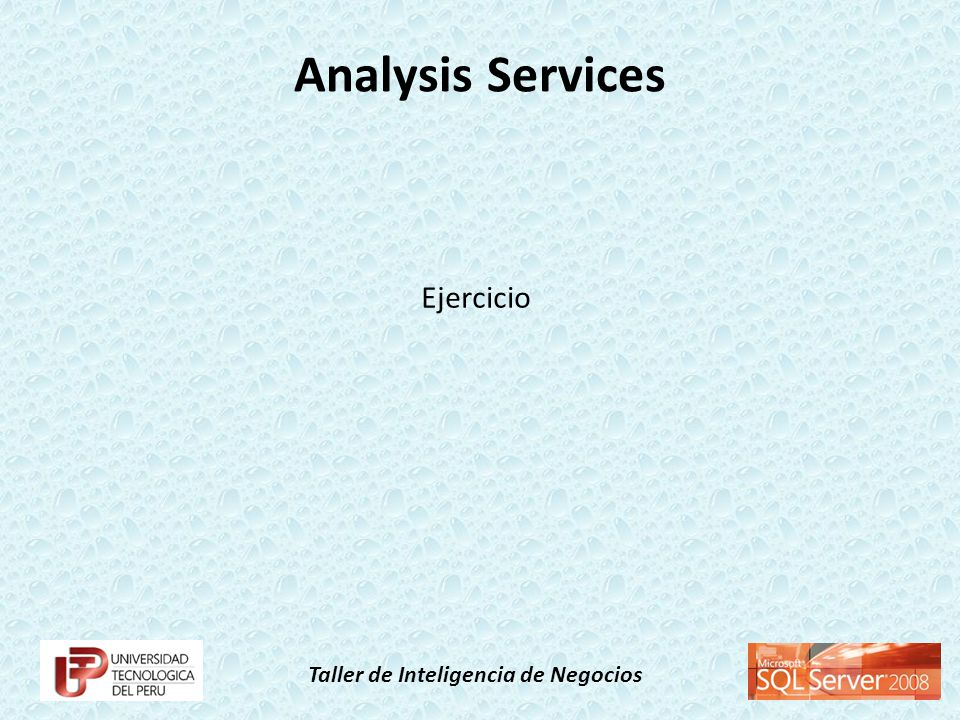 Analysis Services Ejercicio