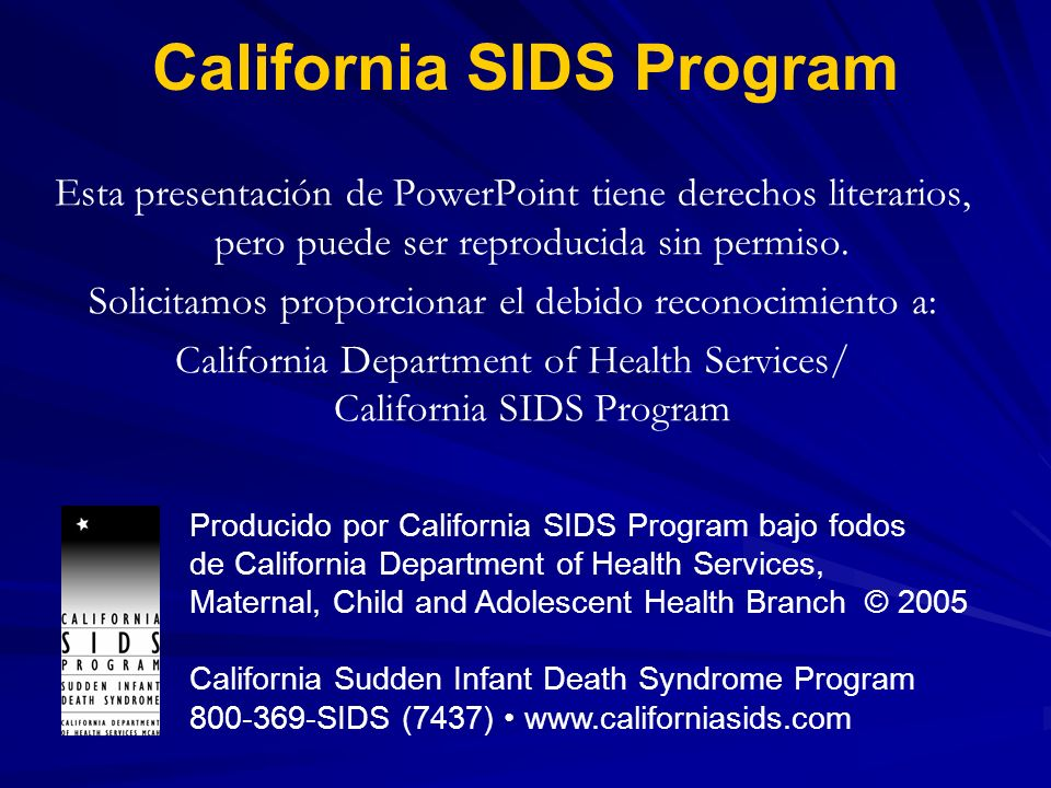 California SIDS Program