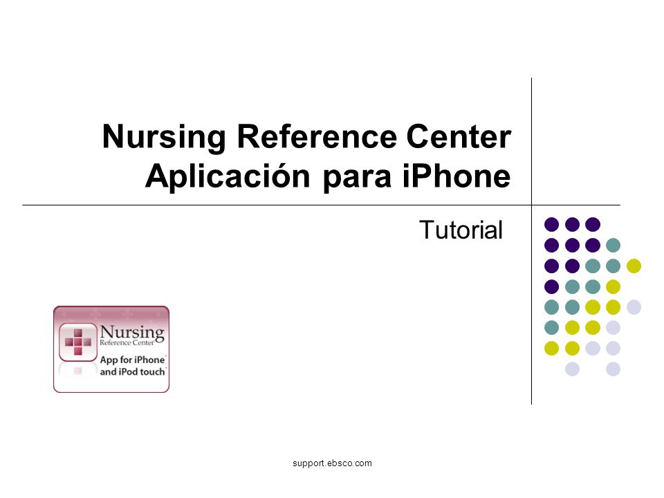 Nursing Reference Center Aplicación para iPhone