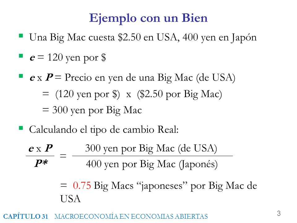 400 yen por Big Mac (Japonés)