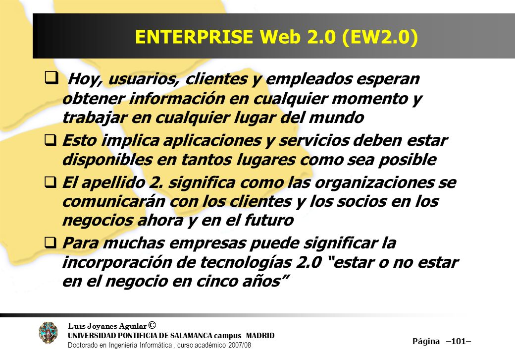 ENTERPRISE Web 2.0 (EW2.0)