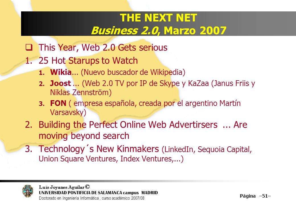 THE NEXT NET Business 2.0, Marzo 2007
