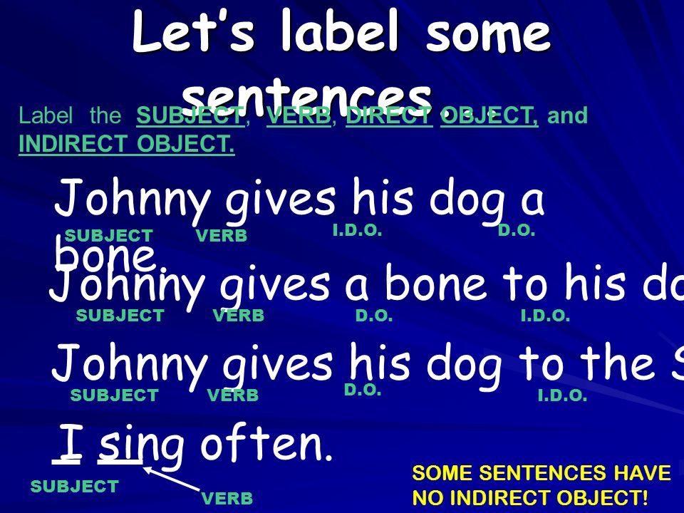 Let's label some sentences...