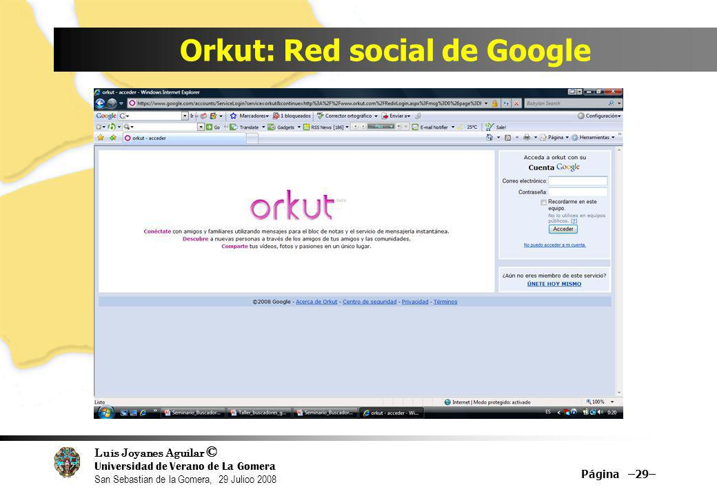 Orkut: Red social de Google