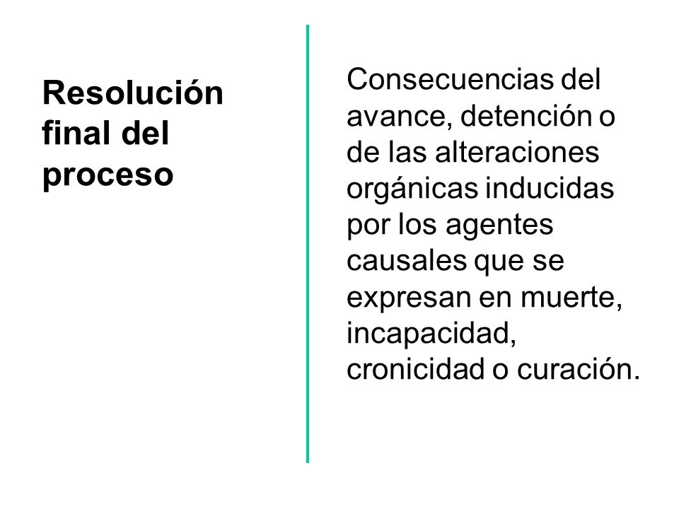 Resolución final del proceso