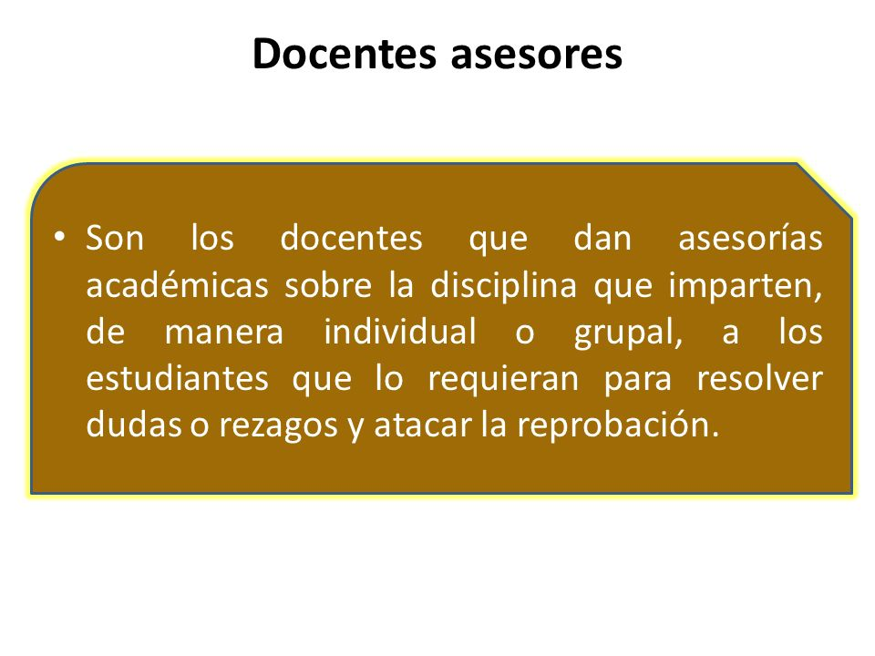 Docentes asesores
