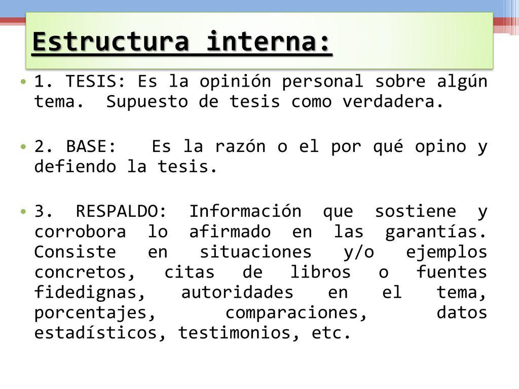 Texto Argumentativo Principales Características Ppt Descargar