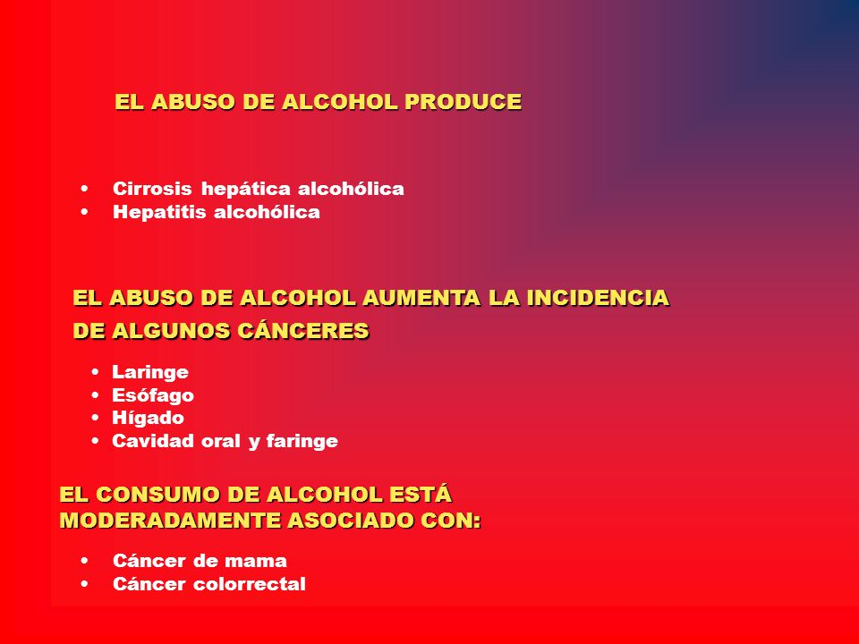 EL ABUSO DE ALCOHOL PRODUCE