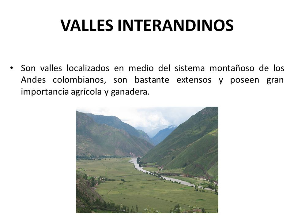 VALLES INTERANDINOS
