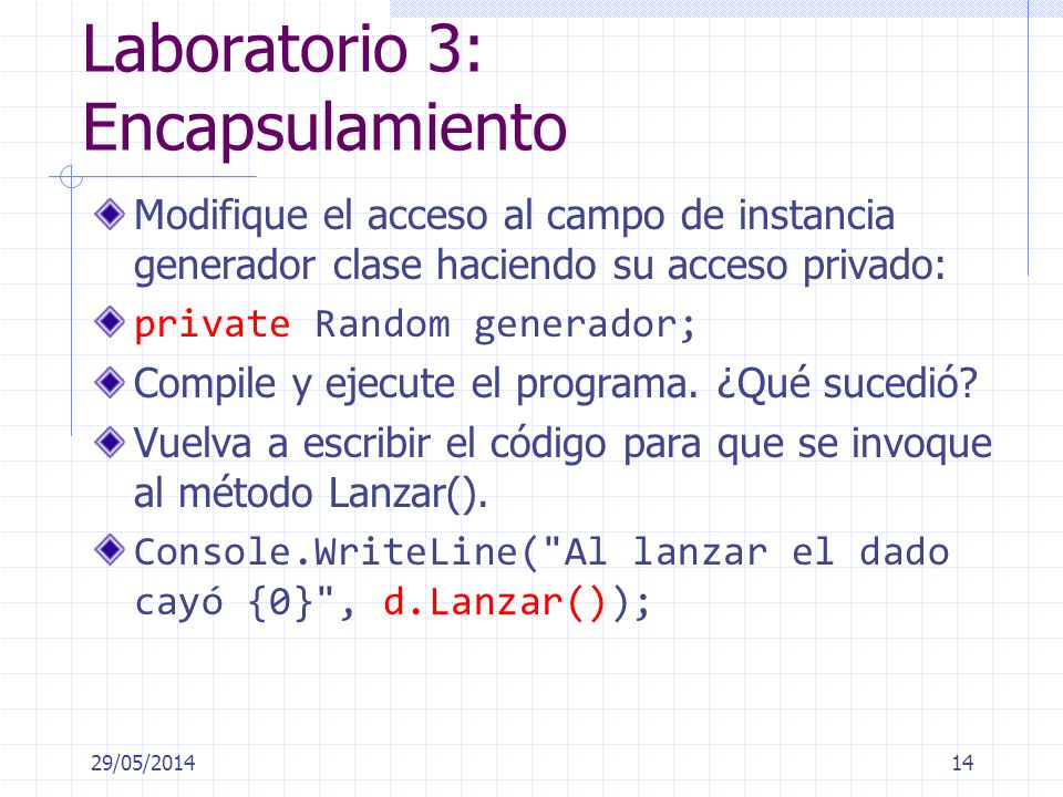 Laboratorio 3: Encapsulamiento