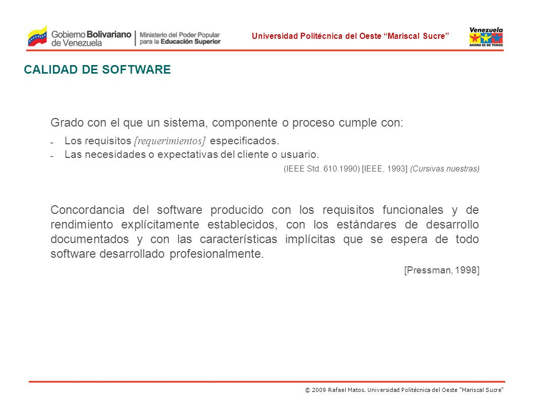INGENIERIA DE SOFTWARE II Trayecto III. Trimestre I - ppt descargar