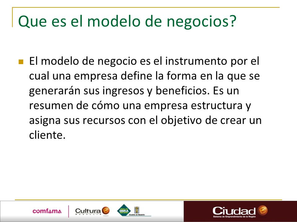 Sesión 8 Modelo de Negocio. - ppt video online descargar