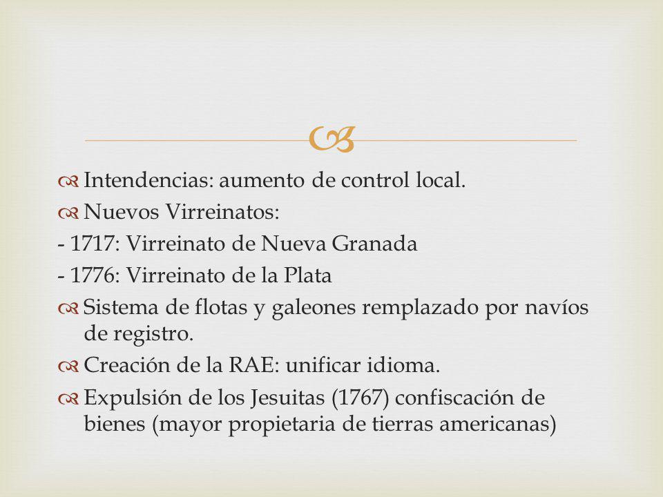 Intendencias: aumento de control local.
