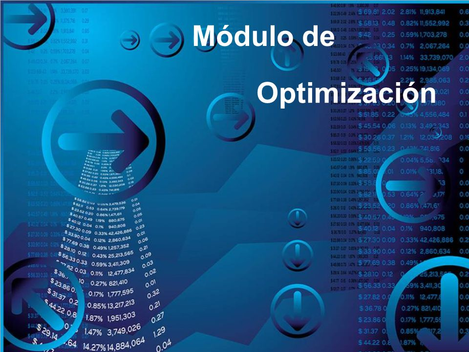 Módulo de Optimización