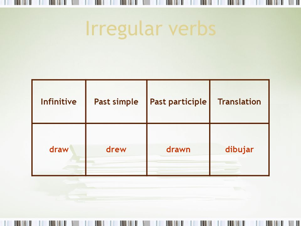 Regular And Irregular Verbs Ppt Video Online Descargar