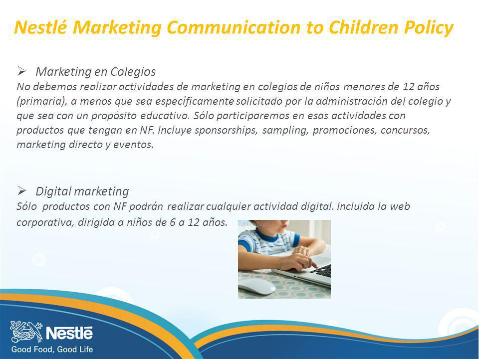 Nestlé Marketing Communication to Children Policy