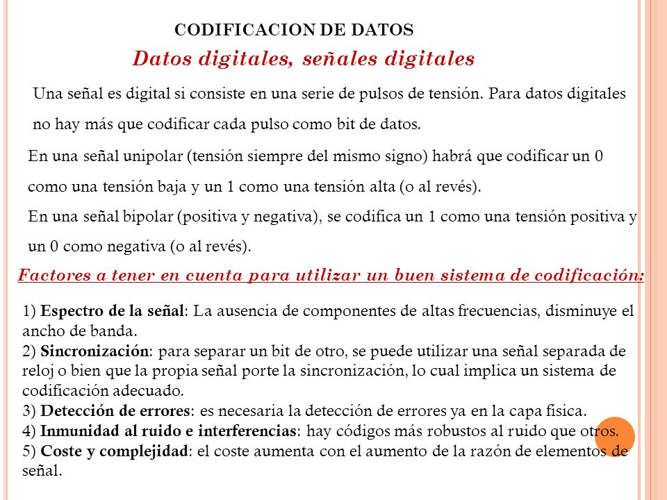 Datos digitales, señales digitales