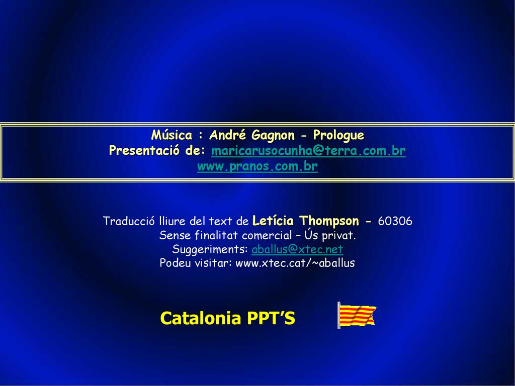 Catalonia PPT'S Música : André Gagnon - Prologue