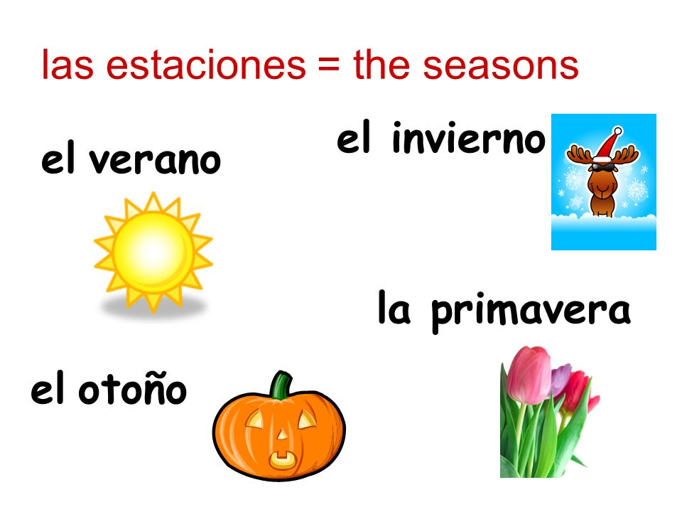 las estaciones = the seasons