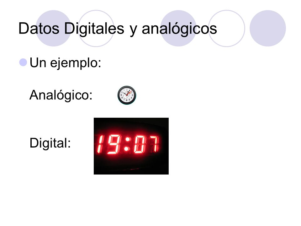 Datos Digitales y analógicos