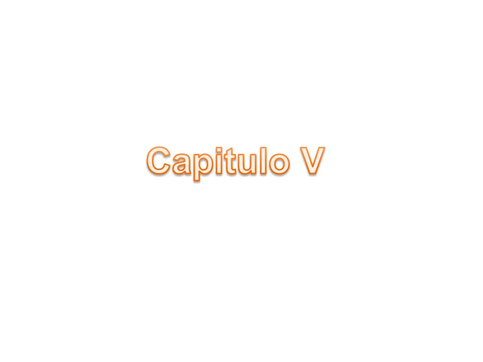 Capitulo V