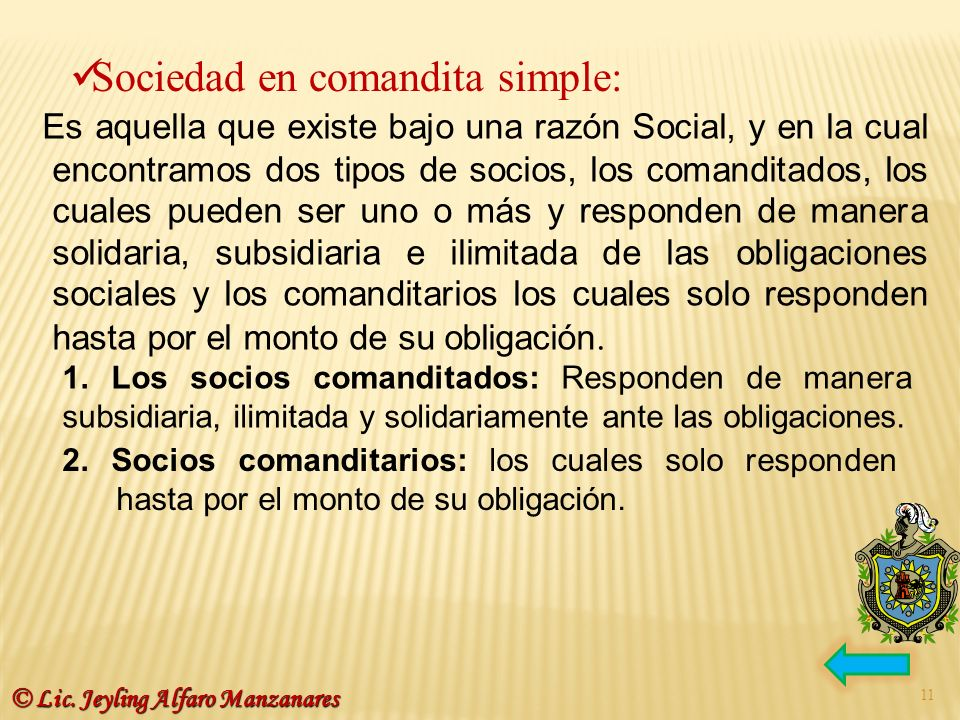 Sociedad en comandita simple: