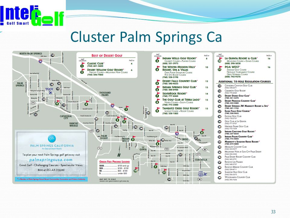 Cluster Palm Springs Ca