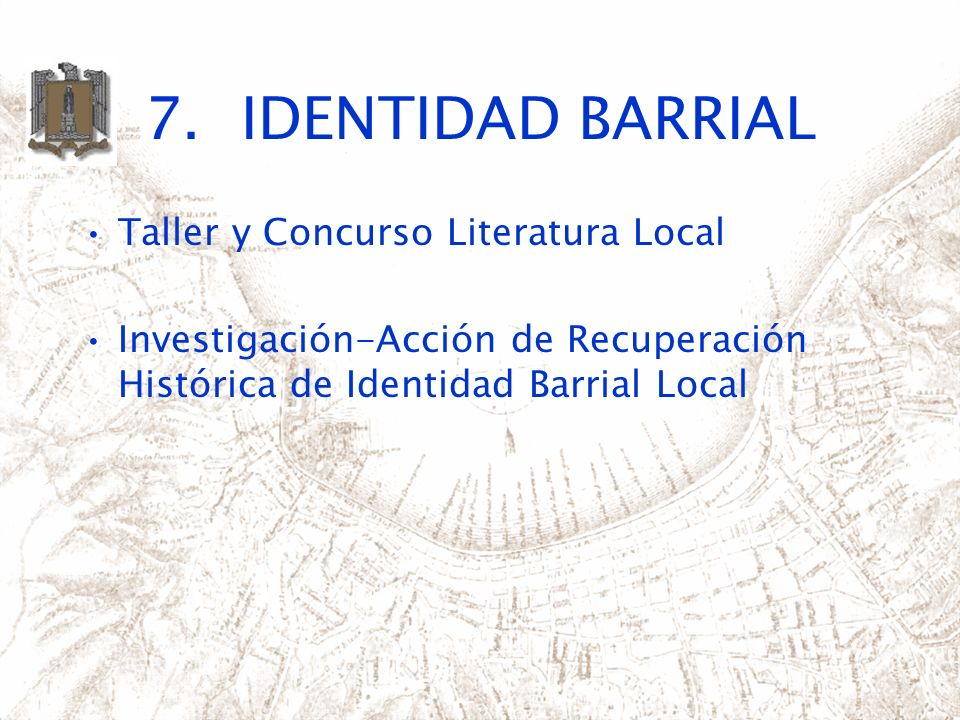 7. IDENTIDAD BARRIAL Taller y Concurso Literatura Local