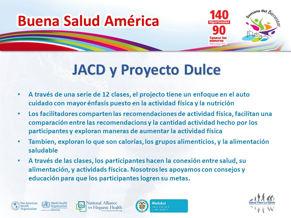 JACD y Proyecto Dulce