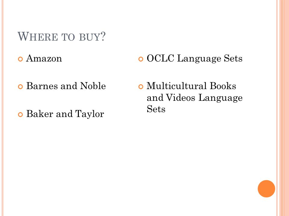 Where to buy Amazon Barnes and Noble Baker and Taylor
