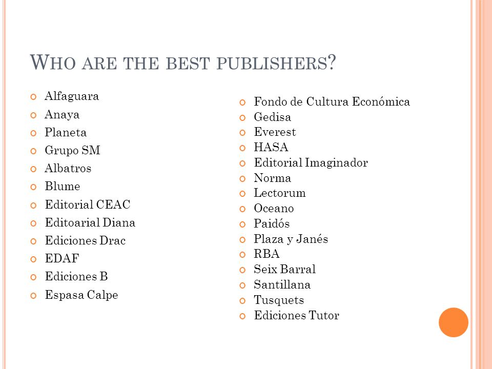 Who are the best publishers