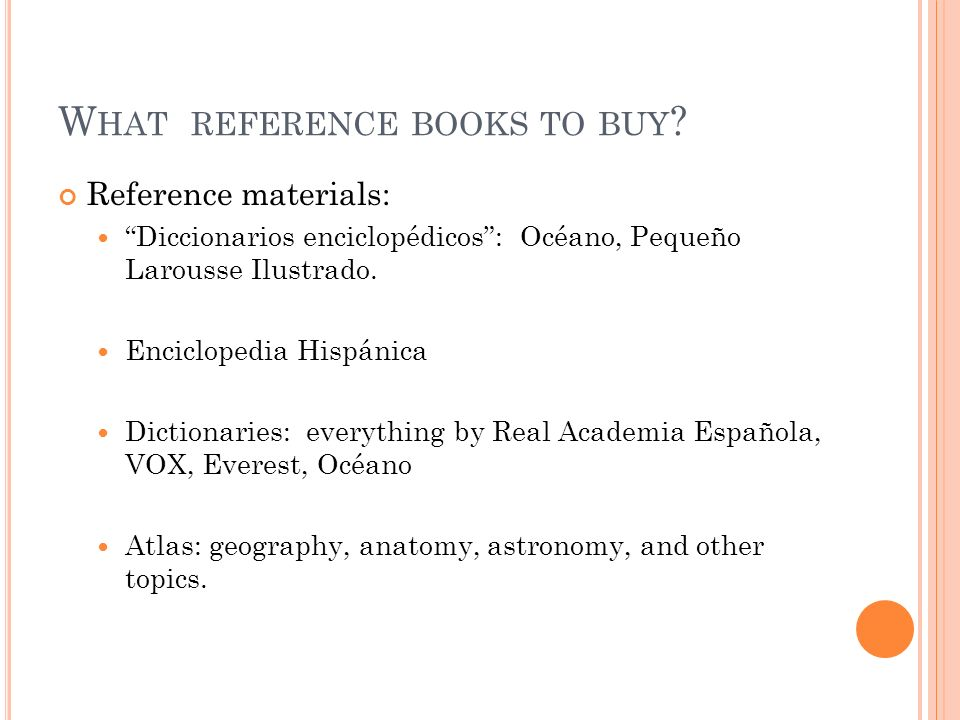 What reference books to buy