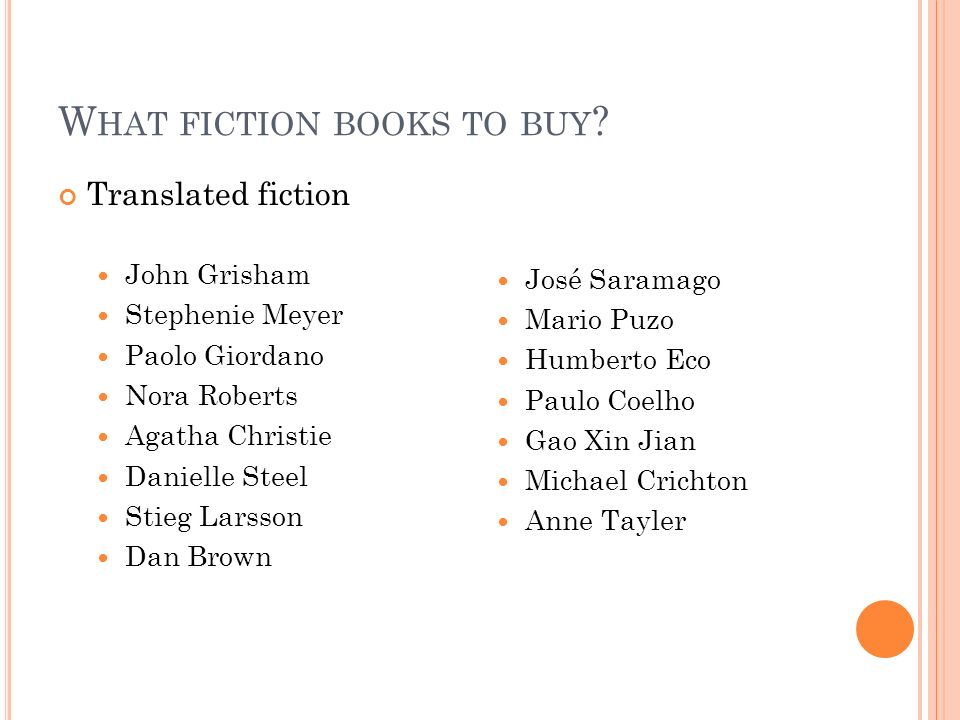 What fiction books to buy