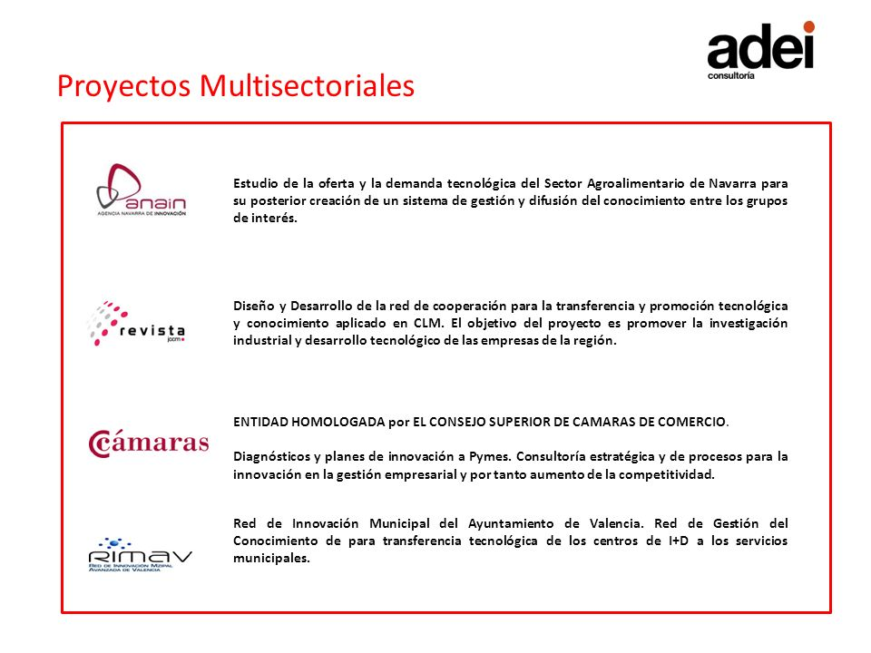 Proyectos Multisectoriales