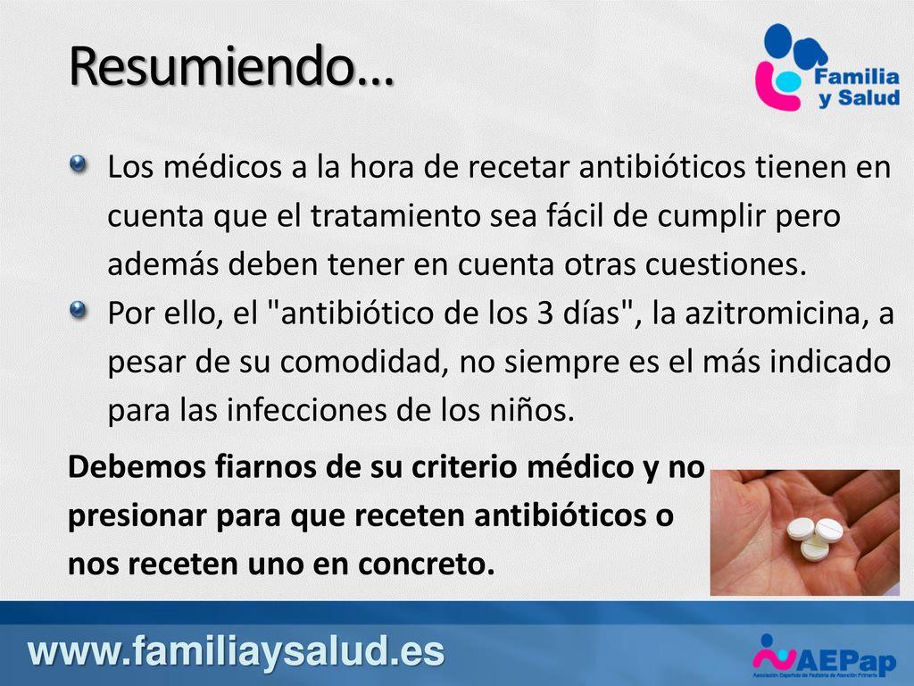 Antibiotico ninos 3 dias