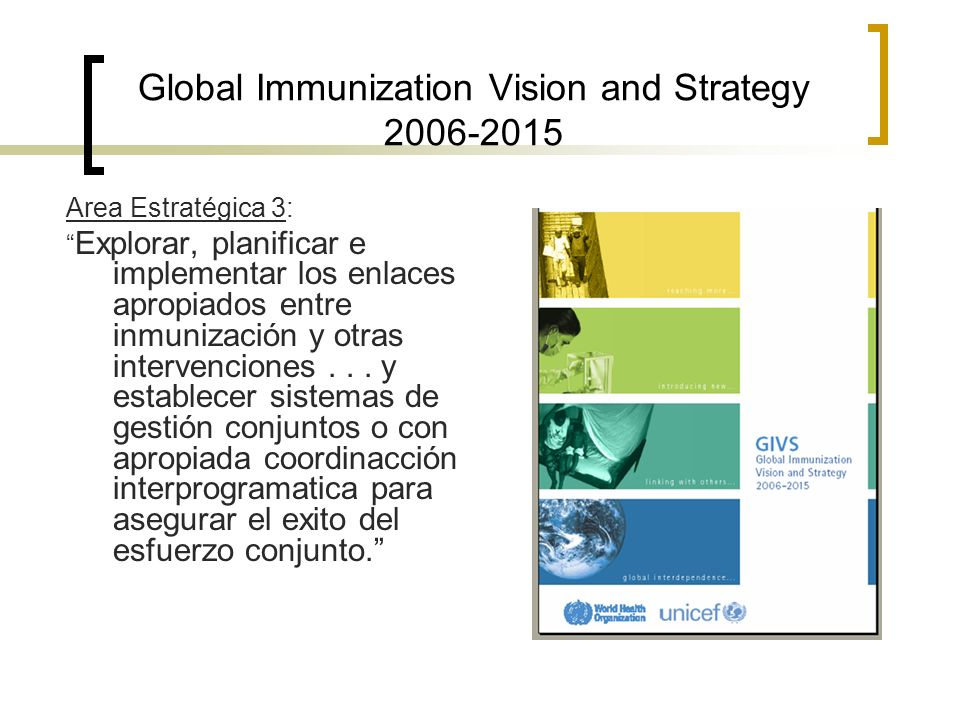 Global Immunization Vision and Strategy 2006-2015