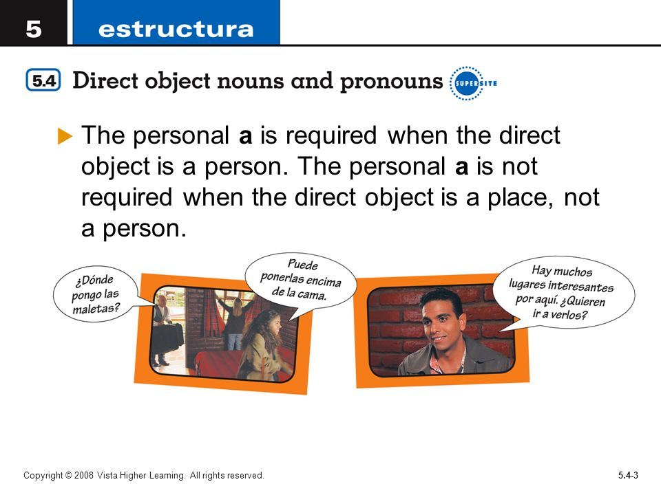 The personal a is required when the direct object is a person