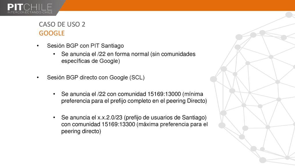 Uso de comunidades BGP en PITChile - ppt descargar